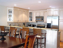 dining room and kitchen at Cape May rental townhome